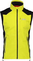 Žlutá pánská lehká softshellová vesta VESTR - NBSSM2290A