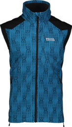 Modrá pánská lehká softshellová vesta VESTR - NBSSM2290B