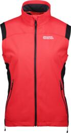 Červená dámská lehká softshellová vesta BUNDEE - NBSSL2312A