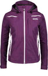 Women's violet waterproof outdoor jacket LERONA - NBSJL2315