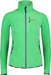 Zelená dámská lehká fleecová mikina SLEEKER