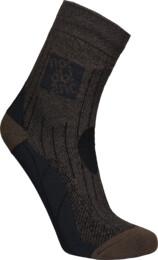Hnědé kompresní sportovní ponožky STARCH