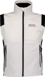 Bílá dětská jarní sofsthellová vesta MLAST - NBSSK2547B