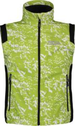 Zelená dětská jarní sofsthellová vesta MLAST - NBSSK2547B