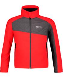 Červená dětská lehká softshellová bunda AVAIL - NBSSK5721S