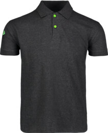 Men's grey cotton polo shirt CRAFTED