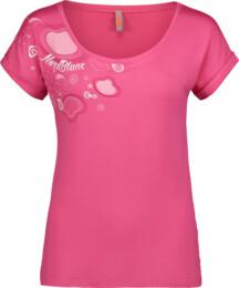 Damen Elastisches T-Shirt pink DECOR
