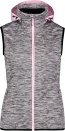 Šedá dámská lehká softshellová vesta SHREWD - NBSSL6625