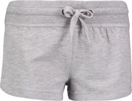 Šedé dámské lehké teplákové šortky SHORE - NBSPL6259