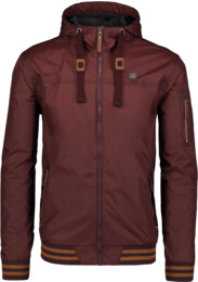Men's brown waterproof outdoor jacket OPULENT - NBSJM6604