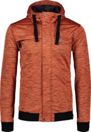 Men's brown light softshell jacket FESTIVE