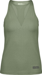 Women's green fitness tank top SNAZZY - NBSLF6667