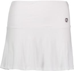 Bílá dámská elastická úpletová sukně FRILL - NBSSL6675