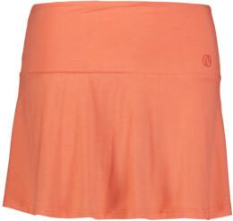 Ružová dámska elastická úpletová sukňa FRILL - NBSSL6675