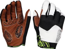 Bílé pánské cyklistické rukavice BREACH - NBWG6363