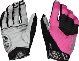 Růžové dámské cyklistické rukavice HOOK - NBWG6364