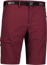 Pantaloni scurți bordo outdoor pentru bărbați STRAIGHT