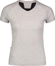 Šedé dámské tričko na běhání STOCK - NBSLF6684