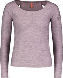 Růžové dámské triko na jógu LATTICE - NBSLF6693