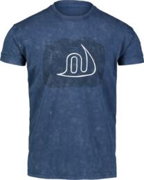 Kék férfi pamut póló OVERT
