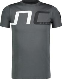 Šedé detské bavlnené tričko HAUL - NBSKT6824L