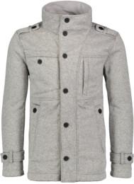 Šedý pánsky svetrový softshellový kabát SUAVE - NBWSM6596