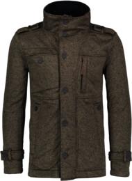 Khaki pánsky svetrový softshellový kabát SUAVE - NBWSM6596