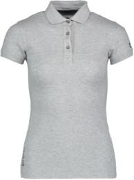 Šedé dámské elastické polo tričko STANDY - NBFLT2132
