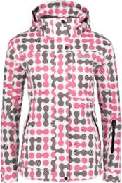 Růžová dámská lyžařská bunda WHEEL