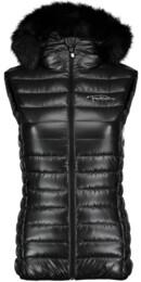 Černá dámská zimní vesta FURRY - NBWJL4492