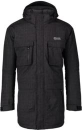 Čierny pánsky zimný kabát URBAN - NBWJM4506B