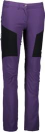 Fialové dámské ultra lehké outdoorové kalhoty COGENT - NBSPL5029