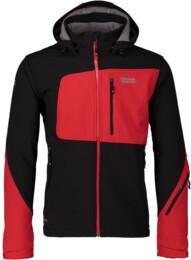 Černá pánská lyžařská softshell bunda IONIC