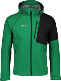 Zelená pánská zateplená softshellová bunda PRISM