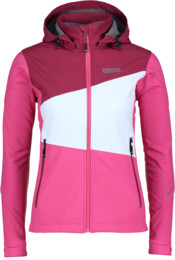 Women's pink softshell jacket with fleece jacket ASTRAL - NBWSL5344