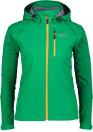 Zelená dámska zateplená softshellová bunda ERUPTION - NBWSL5345