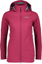 Women's wine red softshell parka with fleece STELLAR - NBWSL5347