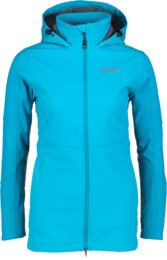 Women's blue softshell parka with fleece STELLAR - NBWSL5347