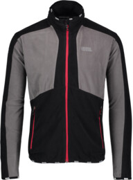 Men's black light fleece jackets ADJUST