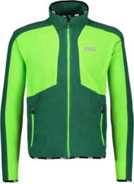 Zelená pánska ľahká fleecová mikina ADJUST - NBWFM5349