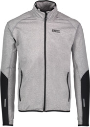 Men's grey power fleece jacket BOUNDARY - NBFMF5372