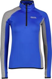 Women's blue power fleece jacket CRESCENT - NBFLF5375