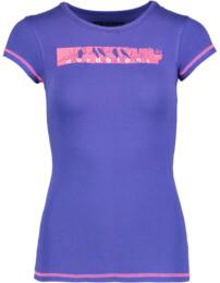 Fialové dámské elastické tričko PERCH - NBFLT5376