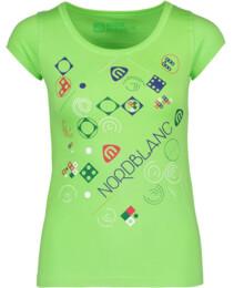 Zelené dámské bavlněné tričko GAME - NBFLT5381