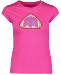 Růžové dámské bavlněné triko BLOSSOM - NBFLT5382