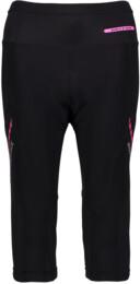 Čierne dámske 3/4 cyklistické nohavice FIRM - NBSPL5557