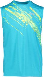 Kék férfi funkciós fitness trikó DOODLE