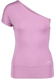 Růžové dámské tričko na jógu SINCERITY - NBSLF5595