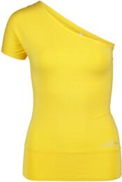 Žluté dámské tričko na jógu SINCERITY - NBSLF5595