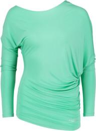 Zelené dámské tričko na jógu JOYFUL - NBSLF5596